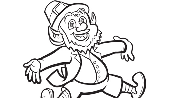 try this free printable st patricks day coloring page