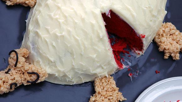 Nancy Fuller's Blood Red Velvet Armadillo Cake