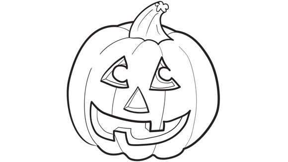 Jack O Lantern Coloring Sheet Halloween