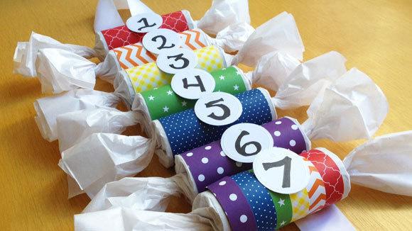 Calendar Ideas Primary : Toilet paper roll birthday calendar grandparents