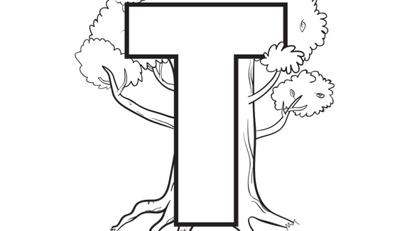 t letters coloring pages to print - photo #46
