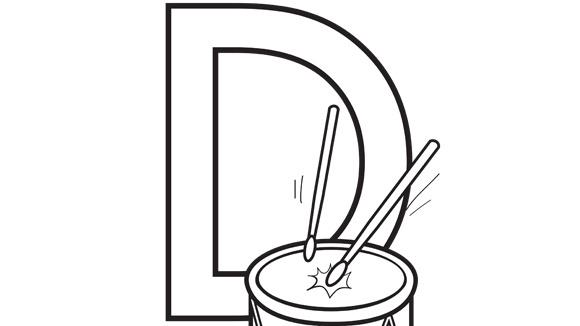 d letter coloring pages - photo #46