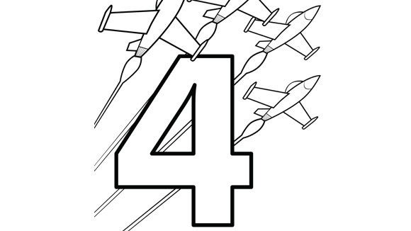 A Fab Four Of Fighter Jets Help Your Grandkids Practice Numbers With This Free Printable Coloring Page