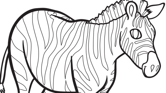 zebra coloring pages free - photo #29