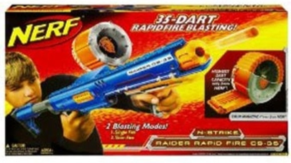 We thought we'd never shoot a Nerf blaster that's cooler than last year's  model. Then we saw the N-Strike Raider Rapid Fire CS-35 Blaster at this  year's Toy ...