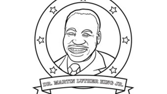 Martin luther king jr for Martin luther coloring pages