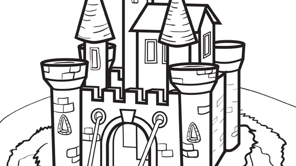 Be The Ruler Of Your Castle Grandkids Will Love This Free Printable Princess Coloring Page