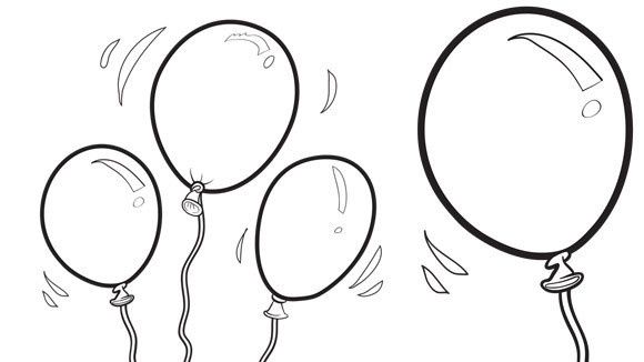 free birthday balloon coloring pages - photo#18