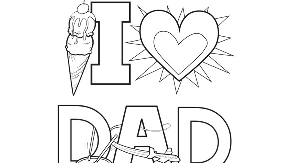 have the kids color a picture for dad and grandpa on their special day