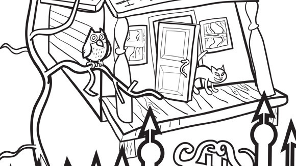 Coloring Fun Halloween Haunted House Pages 98: Halloween Series: Haunted House