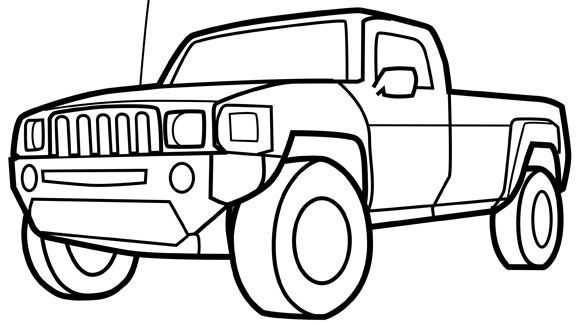 trucks and trains coloring pages - photo#25