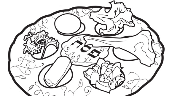 honor passover by coloring this sacred plate