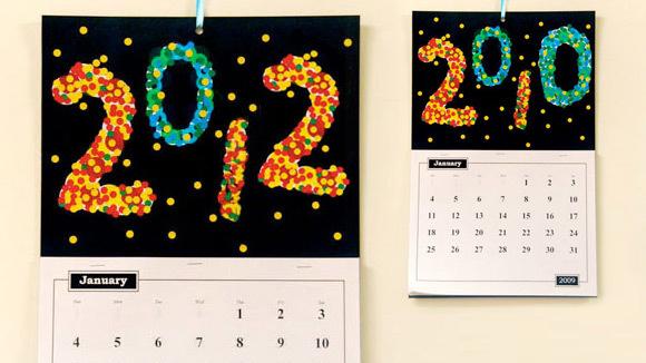 New Year Calendar Craft : New year s craft confetti calendar grandparents
