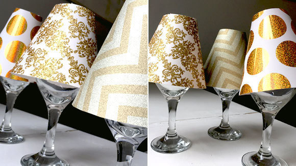 Wine glass lampshade craft grandparents use our handy wine glass lampshade template to create cute and coordinated table decor for any party aloadofball Choice Image