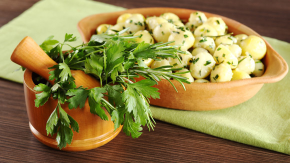 Image result for parsley on a dish