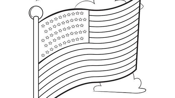 Kids Can Color This Free American Flag For Memorial Day, 4th Of July, Or  Anytime Of Year.