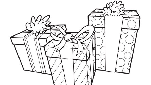 Birthday Present Coloring Pages Presents Grandparents Com