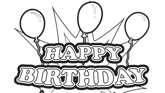 your grandkids will love this happy birthday sign - Coloring Pages For Happy Birthday