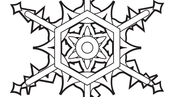 the grandkids will love this free printable winter coloring page - Snowflake Coloring Page