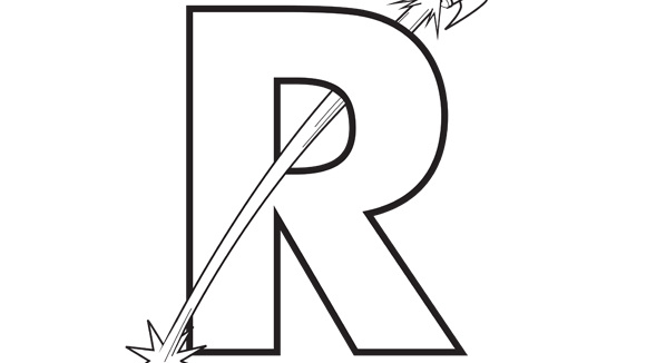 Letter R Coloring Pages - Futpal.com