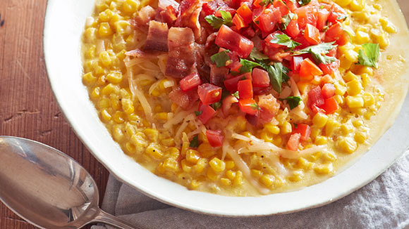 Loaded Creamed Corn with Tomatoes and Bacon - Grandparents.com
