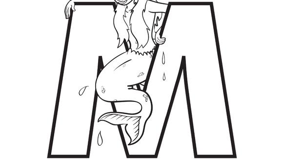Alphabet Series M Mermaid