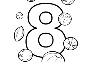 number 8 printable coloring pages - photo#24
