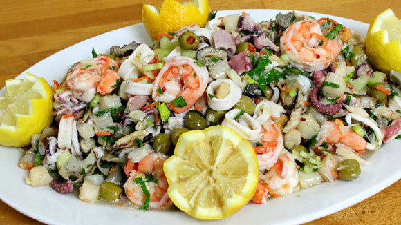 Seven fishes seafood salad for Seven fishes recipe