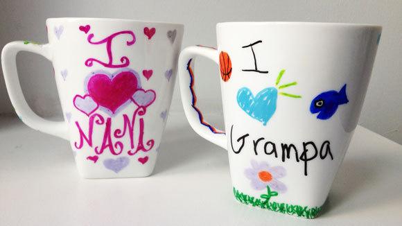 Sharpie mugs craft project for Craft smart paint pen on mugs