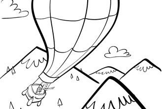 imagine great outdoor fun with these free fresh printable coloring pages of kites hot air balloons an ice cream truck and more